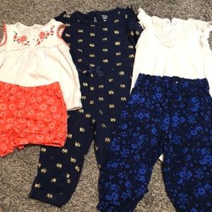 Just One You by Carter's baby girl clothing lot